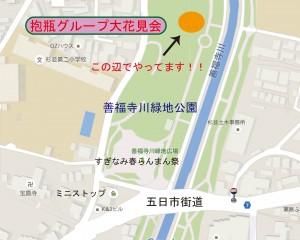 花見会場 地図 2016